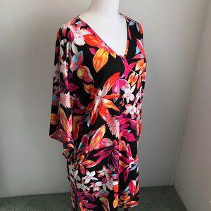 Natori Night Gown Loungewear Kimono Sleeve Small